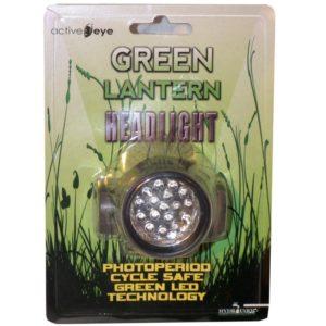 Lampe frontale éclairage vert