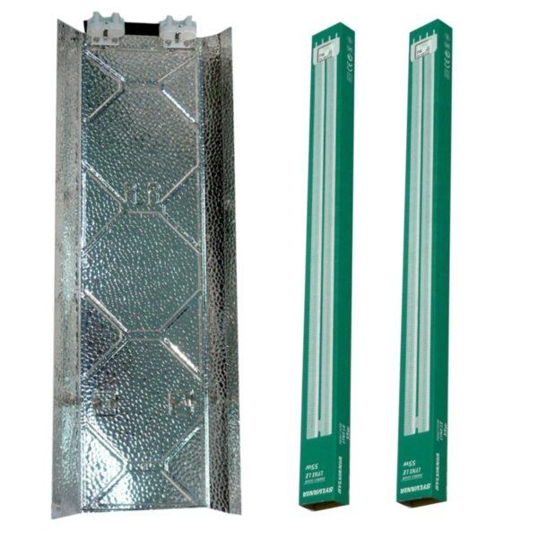 Kits Fluocompactes 2*55w ampoules Sylvania 840 (croissance)