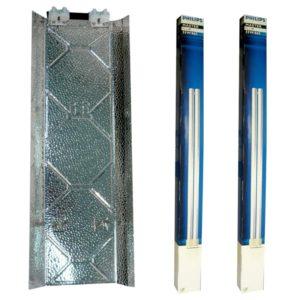 Kits Fluocompactes 2*55w croissance ampoules Philips