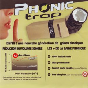 Gaine Phonic Trap 3mtr ø 125mm